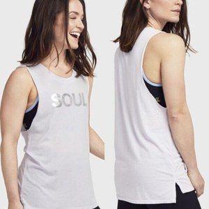 SOUL BY SOULCYCLE Lilac Metallic Soul Tank Top
